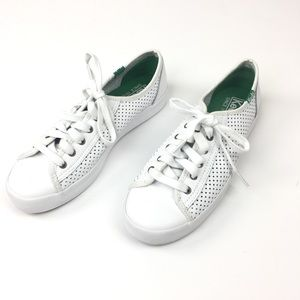 Keds White Leather Women's Kick Start Sneakers